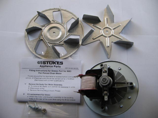 9683 Universal Fan Forced Oven Motor Kit - Chef, Simpson, Westin